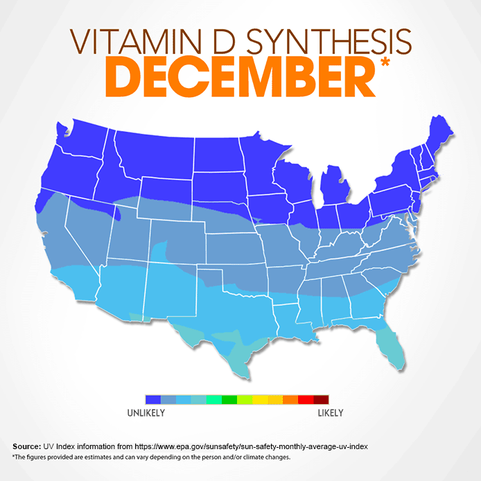 Vitamin D map